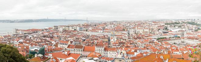 Mirador panorámico, fotografía de la ciudad de Lisboa Portugal