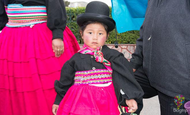 Niña de la comunidad Aymara en Puno