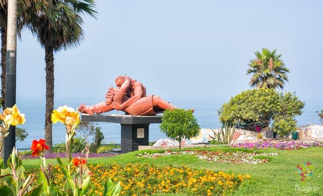 Parque del amor barrio Miraflores en Lima Perú