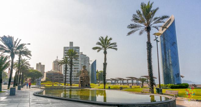 Parque Salazar, Larcomar barrio Miraflores Lima
