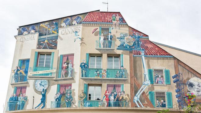 Pinturas murales en Cannes, ciudad del séptimo arte