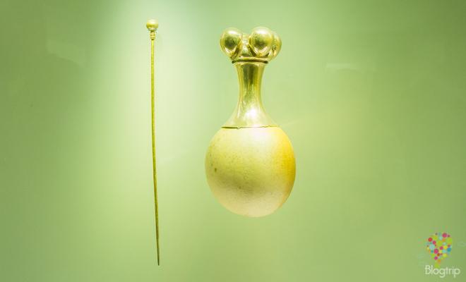 Poporo de oro, museo banco de la república Bogotá