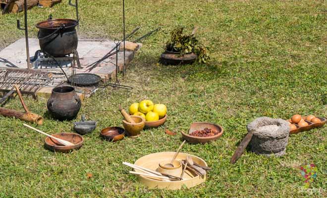 Representación de costumbres medievales, romanas y galas