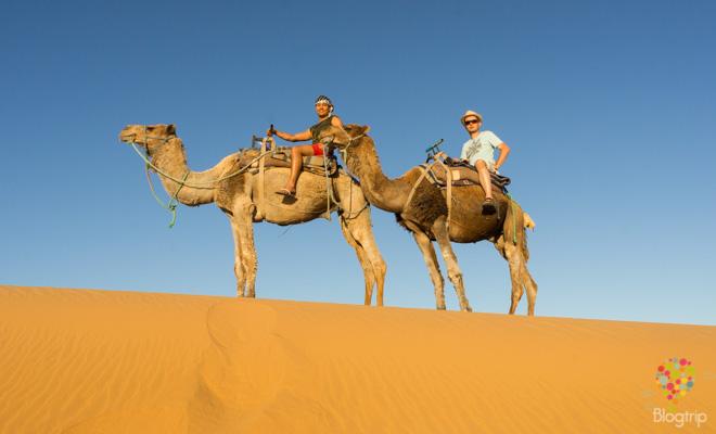 viaje al desierto, Sahara en Marruecos- Blogtrip blog