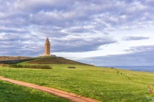Visita del faro y Torre de Hércules Coruña España