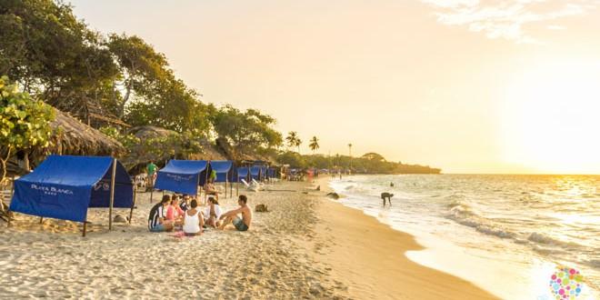 Viajar a Playa blanca islas de Barú Colombia