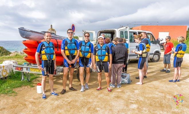 Blogtrip kayak de mar en Ajaccio isla de Córcega