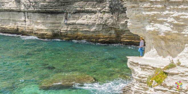 Cala o acantilado de Bonifacio en Córcega