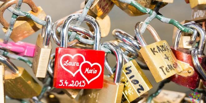 Candados del amor en París Francia