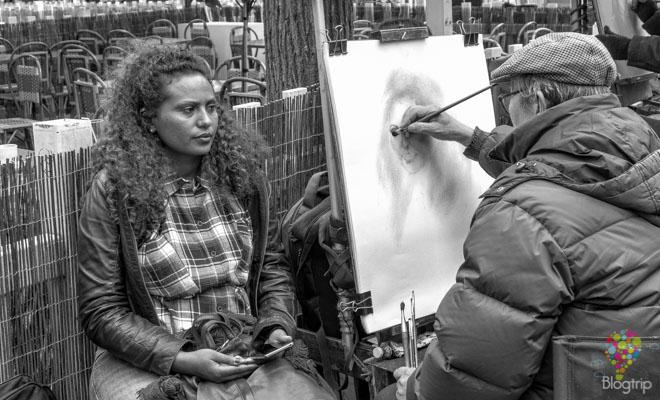 Colina de Montmartre, pintores y artistas de la plaza Tertre