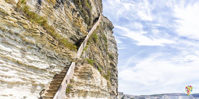 Escalera del rey de Aragón a visitar en Bonifacio