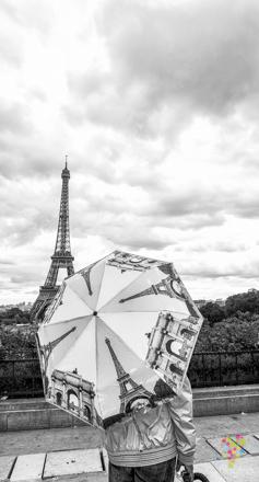 Fotografía de la torre Eiffel en París Francia