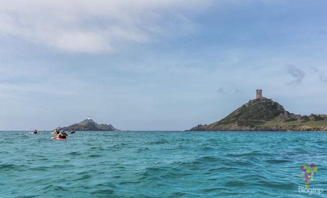 Islas Sanguinarias y torre de la Parata en Ajaccio Córcega