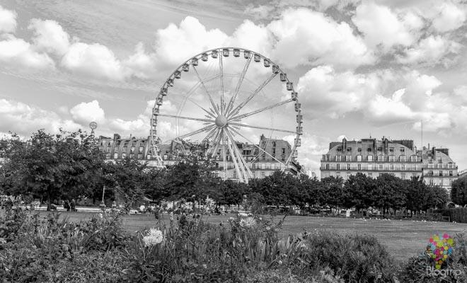 Jardines des Tuileries de París, rueda de la fortuna