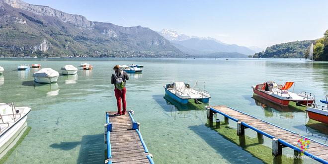 Viendo mi sombra - Lago de Annecy Francia