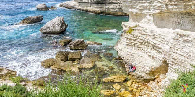 Mar Mediterráneo en Bonifacio Córcega Francia