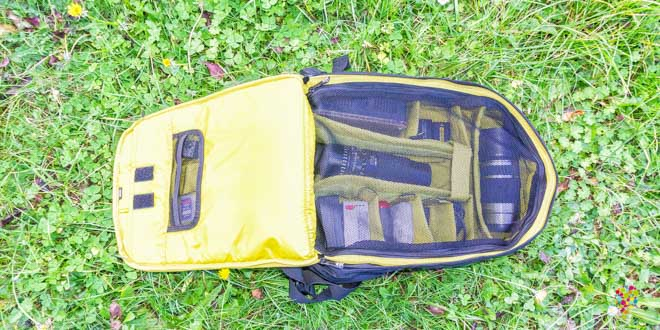 Mi mochila para cámara fotográfica