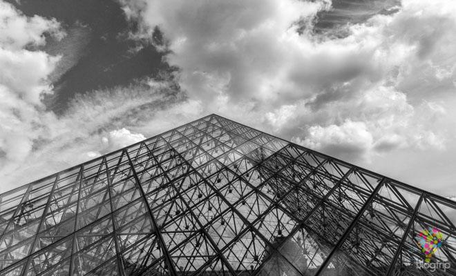 Museo del Louvre, pirámide de cristal