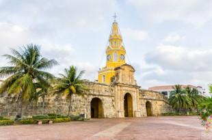 Torre del reloj centro histórico de Cartagena de Indias Colombia