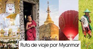 Ruta de mi viaje a Myanmar (Birmania), itinerario de 26 días