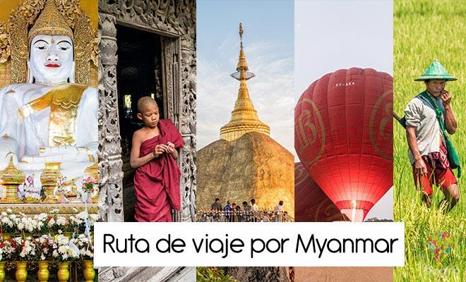 Photo of Ruta de mi viaje a Myanmar (Birmania), itinerario de 26 días