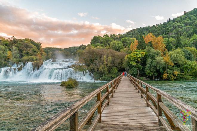 Parque nacional Krka en Croacia cascadas Skradin -Sibenik