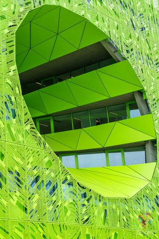 """""""Cube vert"""" El cubo verde de Euronews Lyon Francia"""