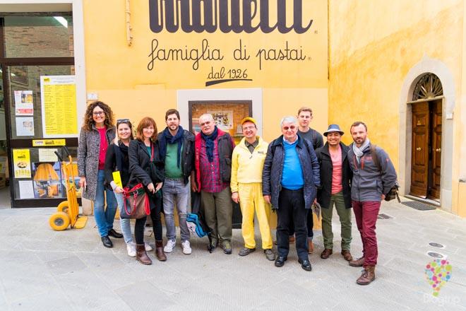 visita de la fábrica familiar artesanal de pasta en Lari, La Valdera