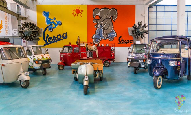 visita del museo de Vespa (Piaggio) en Pontedera La Valdera
