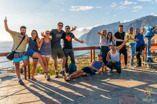 Acantilados los Gigantes en Tenerife, blogtrip fotodrive con Sixt España