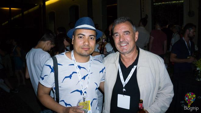 Aristofennes y Carlos Olmo (de vagamundos.com) en el #TBMTenerife