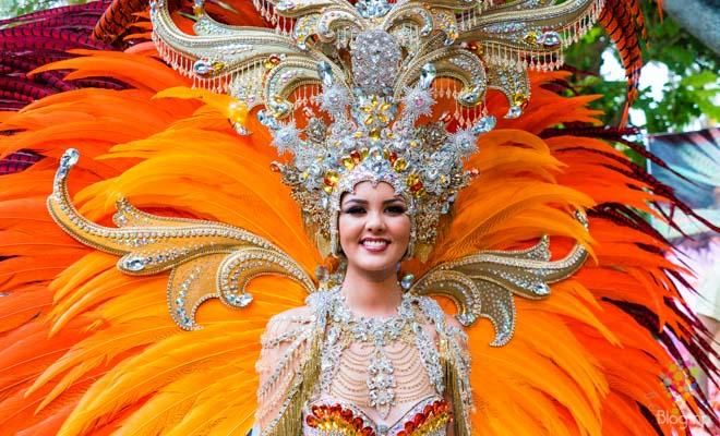 Reina  del carnaval de Tenerife en Islas Canarias