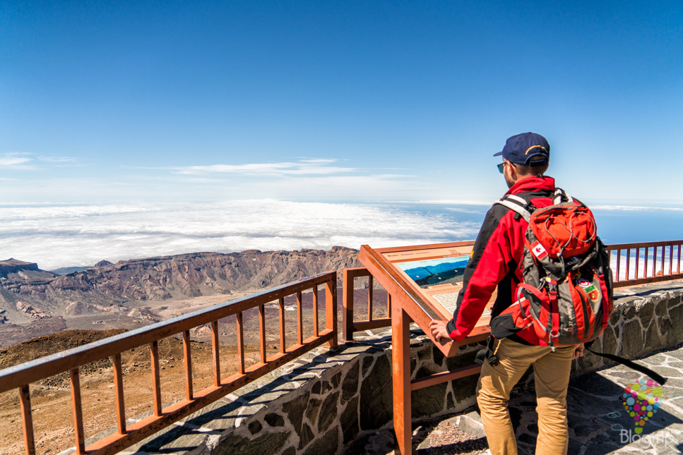 Mirador de la estación de altura del volcán Teide