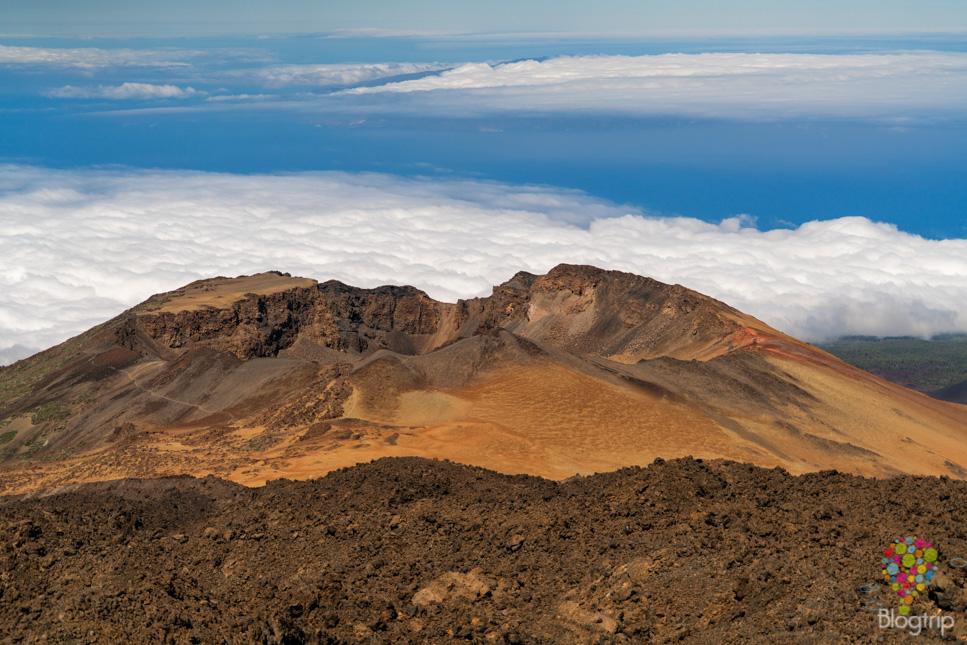 Mirador de Pico Viejo o montaña Chahorra en volcán Teide