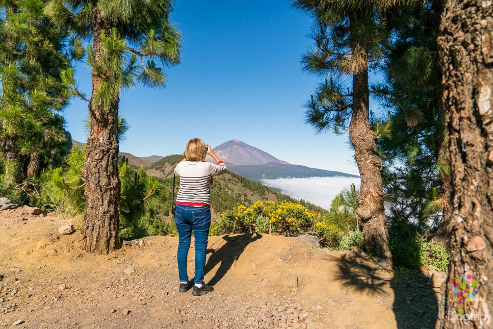 Mirador en la ruta para llegar al Teide - Blog de viajes Concha de viajes