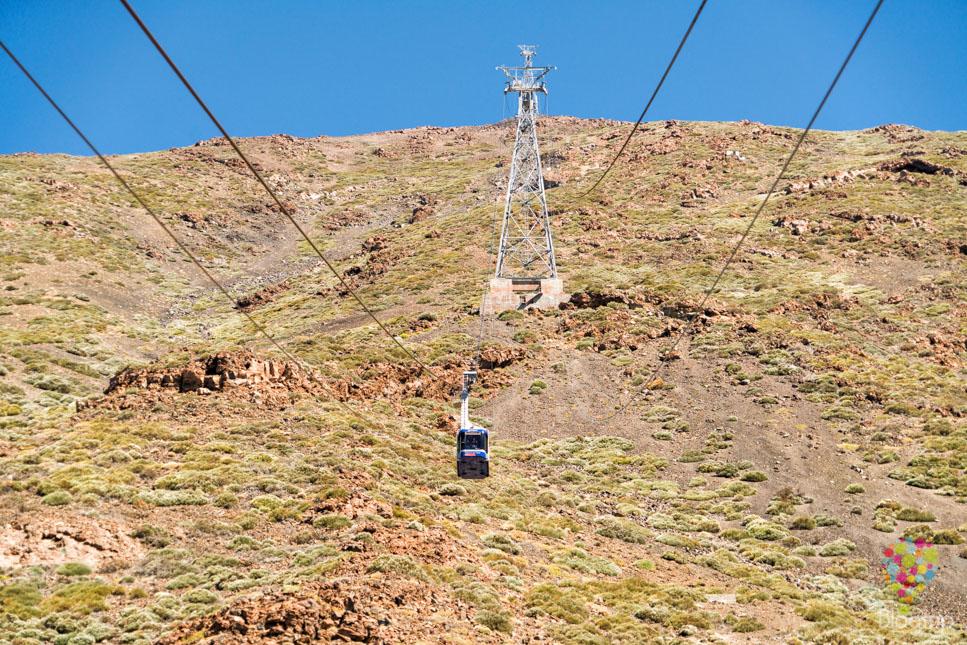 Teleférico para subir al volcán Teide en Tenerife