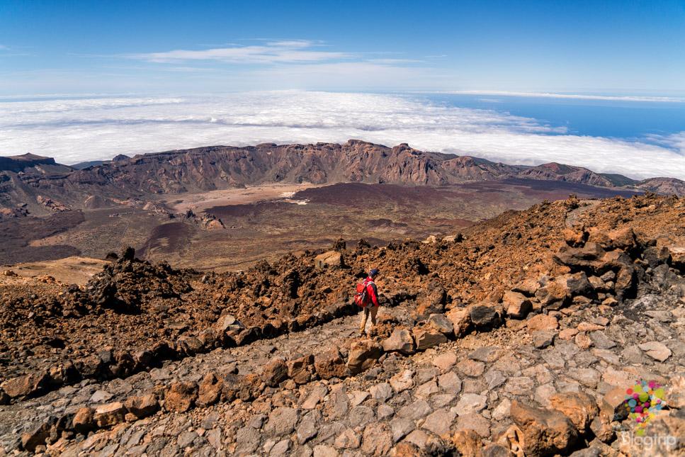 Trekking / Senderismo en el parque nacional y volcán Teide