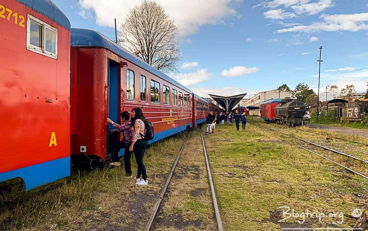 Tren de la sabana en Bogotá hasta Zipaquirá Colombia