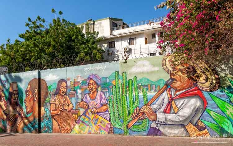 Street art graffiti en Santa Marta Colombia